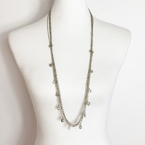 LOFT Silver and Gold Knotted Multi-Strand Necklace